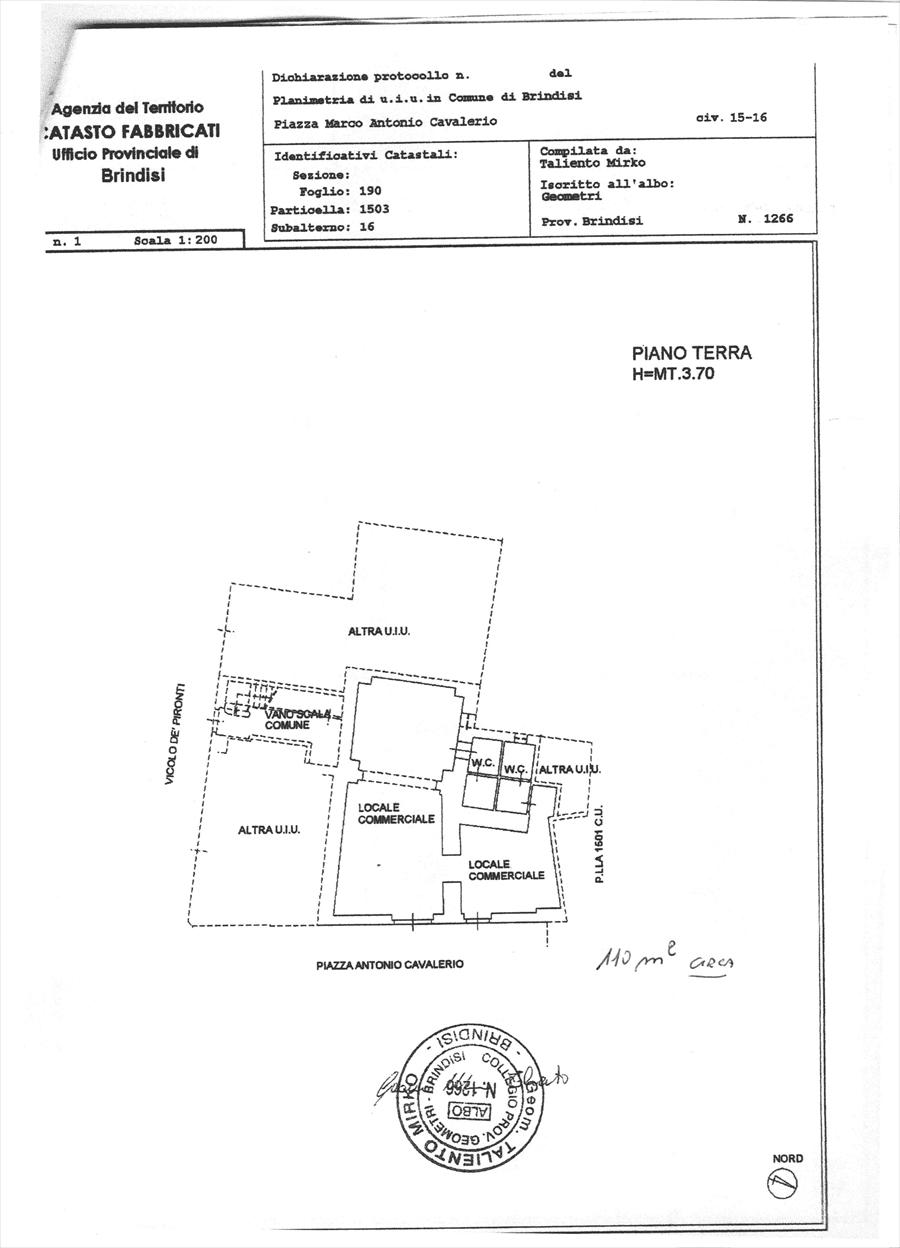 Negozio / Locale in affitto a Brindisi, 2 locali, prezzo € 850 | Cambio Casa.it