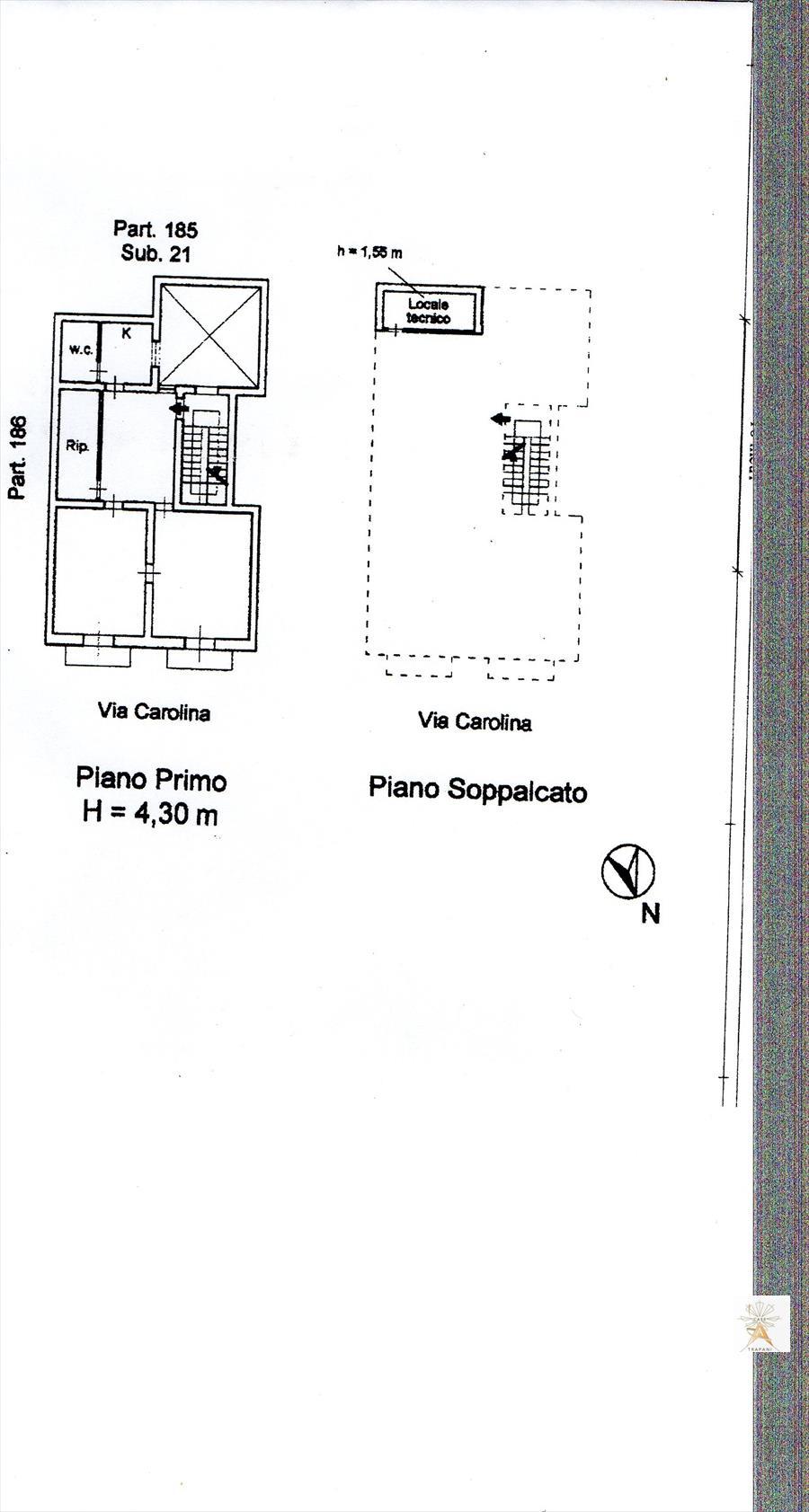 Appartamento in vendita a Trapani, 3 locali, prezzo € 75.000 | Cambio Casa.it